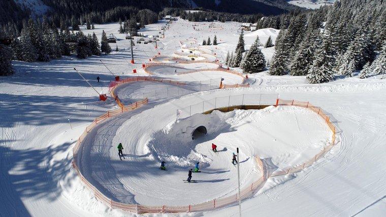 Skifahrer im Funslope Park