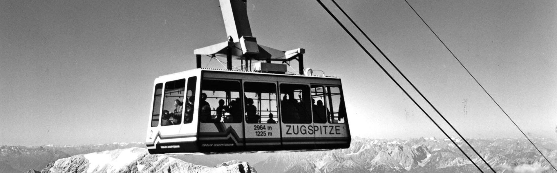 Alte Aufnahme der Zugspitzbahn